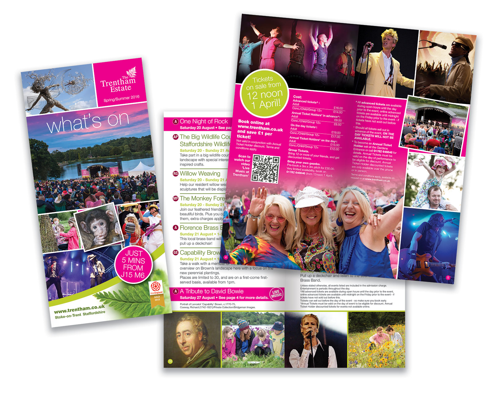 Trentham Gardens 'What's On' Summer Leaflet
