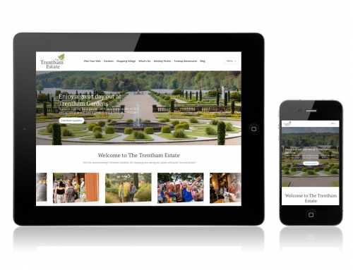 Brilliant new website for Trentham Gardens