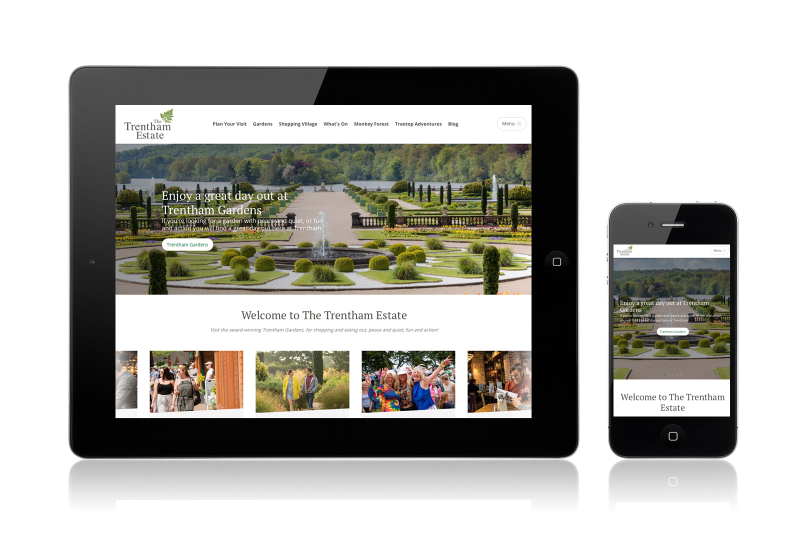 Trentham Gardens - Web design and build using Umbraco CMS